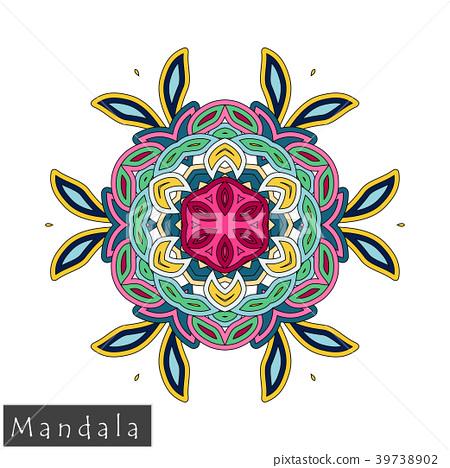 Floral symmetrical geometrical vector symbol. 39738902