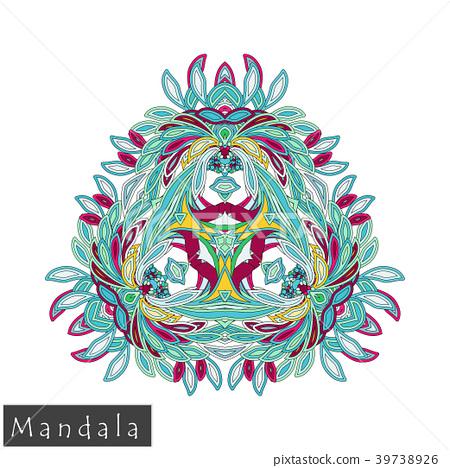 Floral symmetrical geometrical vector symbol. 39738926