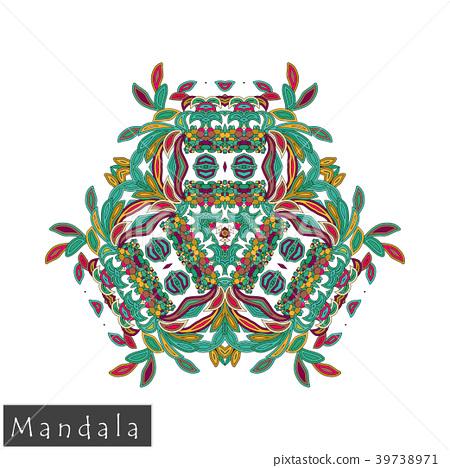 Floral symmetrical geometrical vector symbol. 39738971