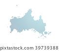 벡터, 지도, 도트 39739388