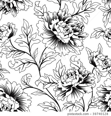 Floral Seamless Pattern Flower Garden Background Stock Illustration 39740128 Pixta