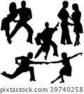 Latino Dance Silhouettes 39740258