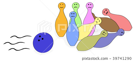 Scared Bowling Pins  39741290
