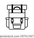 Backpack icon vector 39741367