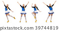 Cheerleader isolated on the white background 39744819