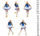 Cheerleader isolated on the white background 39744823