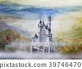 新天鵝堡城堡手繪草圖灰姑娘城堡 39746470