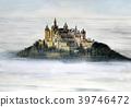 호 엔조 레 룬 성 세계 유산 유럽 고성 수채화 39746472