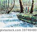 Oirase mountain stream Oirase fresh green 39746480