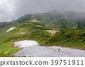 산, 잔설, 녹지 않은 눈 39751911