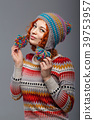 Girl in knitted cap 39753957