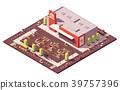 isometric, vector, supermarket 39757396