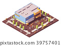 Vector isometric low poly supermarket 39757401