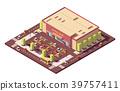 isometric, vector, supermarket 39757411
