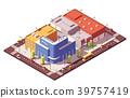 vector, isometric, city 39757419