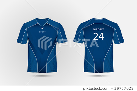 Blue and white layout football sport t-shirt, kits 39757625