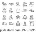 Japan icon set. 39758695