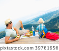 Family on a picnic in the mountains 39761956
