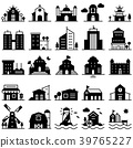 Building Icon set Government,Museum, Apartment 39765227