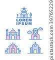 Building Icon set,Religion Building,Logo Idea  39765229