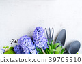 Gardening concept with hyacinth fresh flowers 39765510