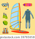 Fun water extreme sport kiteboarding surfer 39765658
