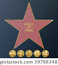 Hollywood Walk Of Fame. Vector Star Illustration 39766348