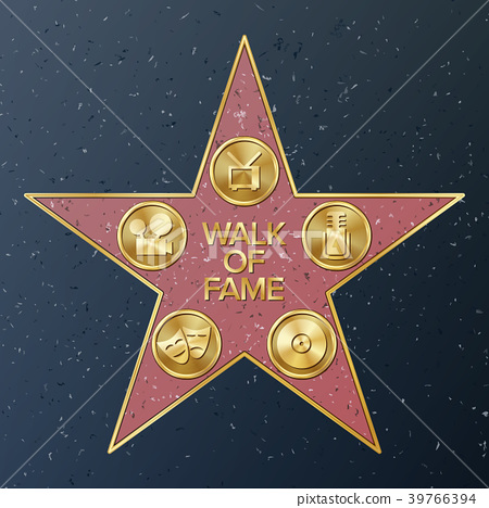 Hollywood Walk Of Fame. Vector Star Illustration 39766394