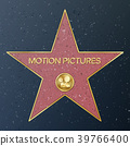 Hollywood Walk Of Fame. Vector Star Illustration 39766400