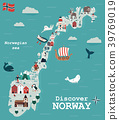 Set of Norway landmarks. Vector illustration 39769019