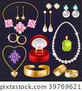 Jewelry vector jewellery gold bracelet necklace 39769621