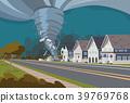 Swirling Tornado in Village Destroy Houses 39769768
