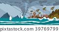 Tornado from Sea Hurricane goes on tropic Houses 39769799