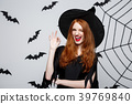Halloween witch concept - happy halloween ginger 39769840