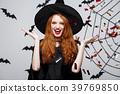Halloween Witch Concept - Happy elegant witch 39769850