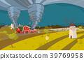 Tornado Destroying Farm Hurricane Landscape 39769958