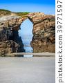 Las Catedrales beach in Galicia, Spain. 39771597