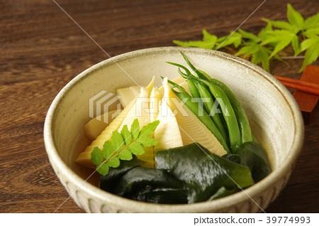 와카 타케 조림 죽순과 미역 가정 요리 39774993