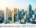 panoramic city skyline sunset view in tokyo, Japan 39775257