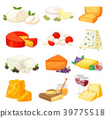 Cheese vector cheesy food and dairy products with 39775518