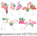Flamingo vector tropical pink flamingos and exotic 39775519
