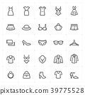 Mini Icon set - Clothing Woman icon bold line 39775528