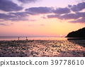 Evening view of the sea and sky in Okinawa 39778610