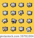Television character emoji set 39781004
