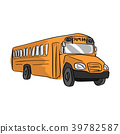yellow school bus vector illustration sketch  39782587