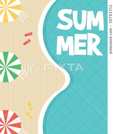 Summer holiday on the beach 39783352