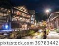 ทิวทัศน์ยามค่ำคืนของเมืองสปา Ginzan Onsen 39783442