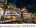 ทิวทัศน์ยามค่ำคืนของเมืองสปา Ginzan Onsen 39783445