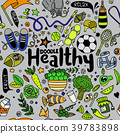 Healthy lifestyle concept,Hand drawn  39783898