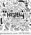 Healthy lifestyle concept,Hand drawn  39783901